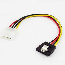 SATA Power Adapter Cable 15p with Latch to AT 4p Male