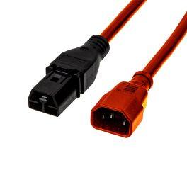 SAF-D-GRID®-T-LATCH-PLUG-to-IEC-C14 RED